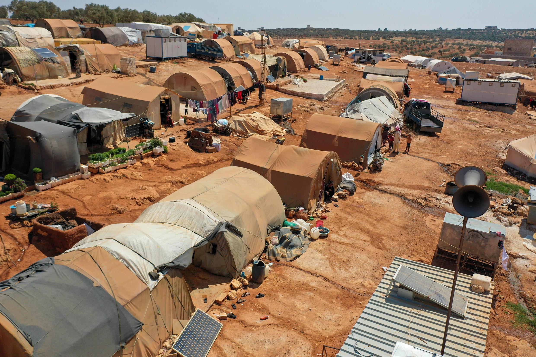 Лагерь сирийских беженцев в Алеппо, провинция Идлиб, 11 июля 2020 года.