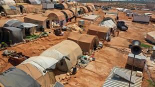 Một góc trại người tị nạn Syria tại Idleb, Alep, gần thành phố Maaret Misrin, tây bắc Syria, ngày 11/07/2020.
