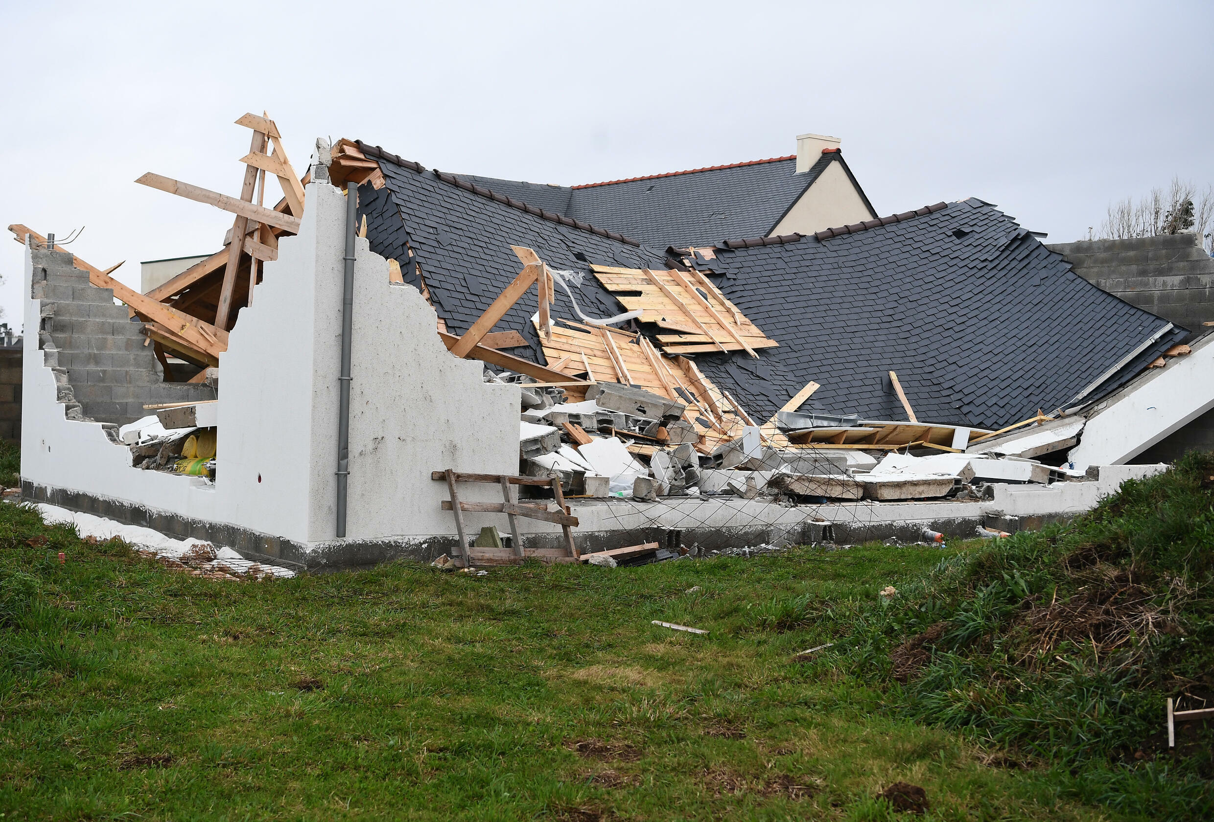 The Aurore storm hit  much of France's north