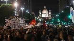 Protesto nas ruas do Rio de Janeiro. 15/05/19