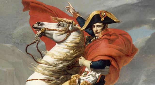'Napoleón cruzando los Alpes', de Jacques-Louis David.