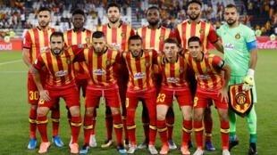L'Espérance de Tunis lors du Mondial des clubs, le 14 décembre 2019.