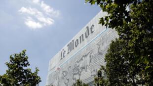 Le siège du journal «Le Monde», à Paris.