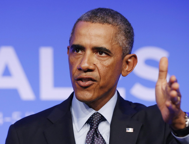 Le président Barack Obama lors du sommet de l'Otan à Newport, le 5 septembre 2014.