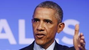 លោកប្រធានាធិបតីអាមេរិក Barack Obama ប្រកាសបង្កើតសម្ព័ន្ធអន្តរជាតិដើម្បីកម្ខាត់ពួកជីហាត នៅពេលបិទជំនួបកំពូលអូតង់ ថ្ងៃទី ៥ កញ្ញា ២០១៤
