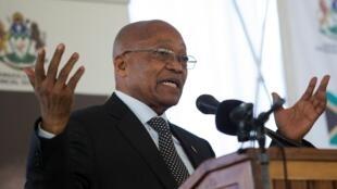 Jacob Zuma, tarehe 6 Agosti 2017 huko Pietermaritzburg, jimbo la KwaZulu-Natal.