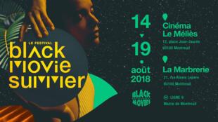 L'affiche du 9e festival Black Movie Summer.