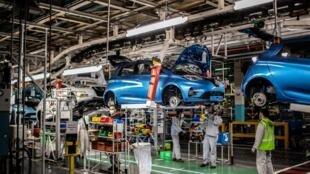 L'usine d'assemblage de Flins-sur-Seine du constructeur français Renault en mai 2020 (image d'illustration).