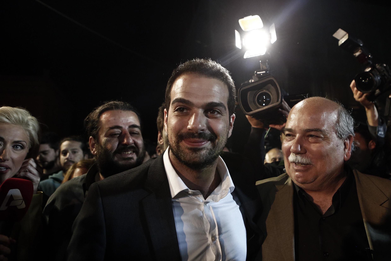 Le candidat de la gauche radicale Syriza à la mairie d'Athènes, Gabriel Sakellaridis, le 18 mai 2014.
