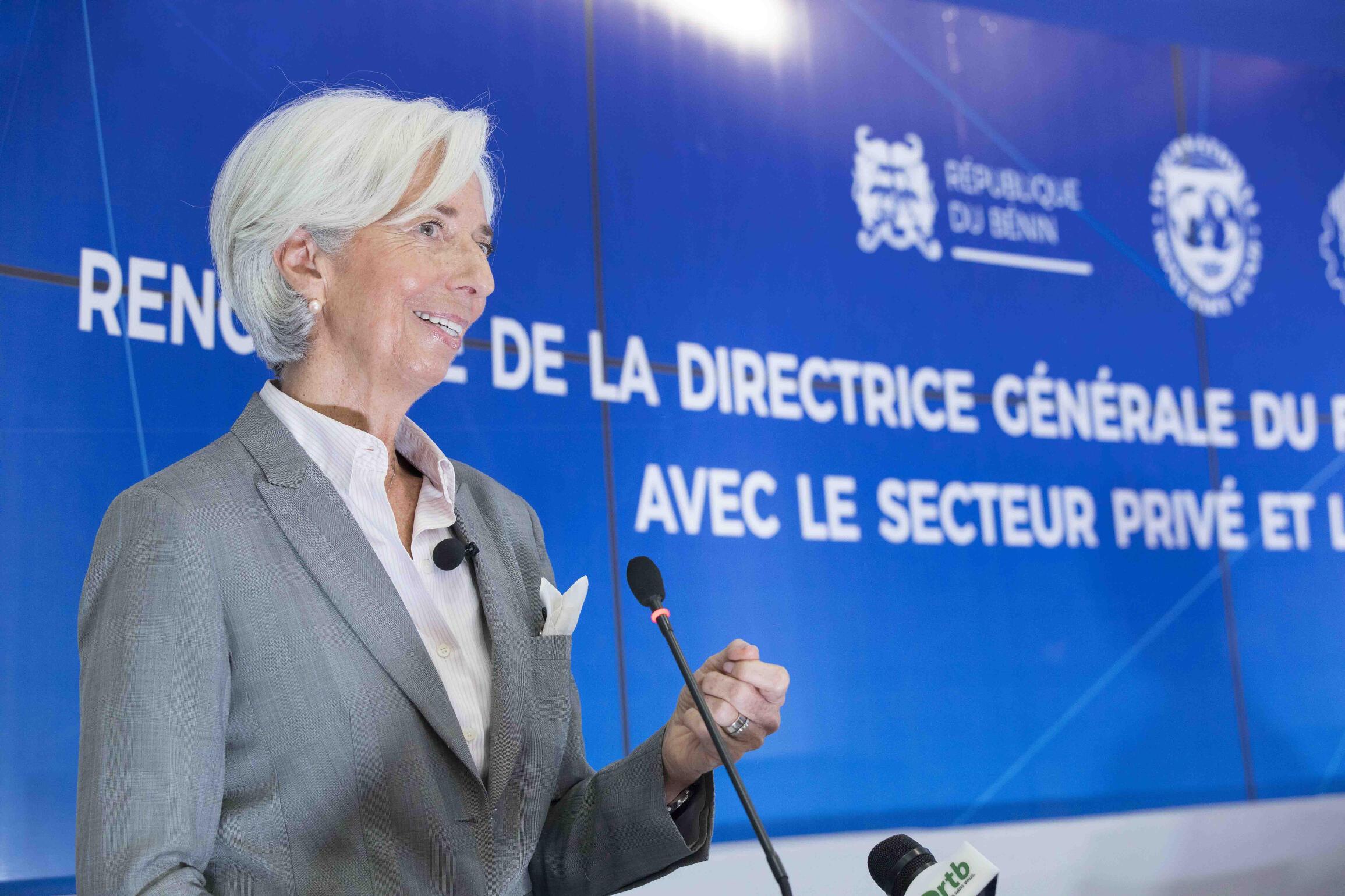 A diretora-gerente do FMI, Christine Lagarde em 12 de dezembro de 2017.