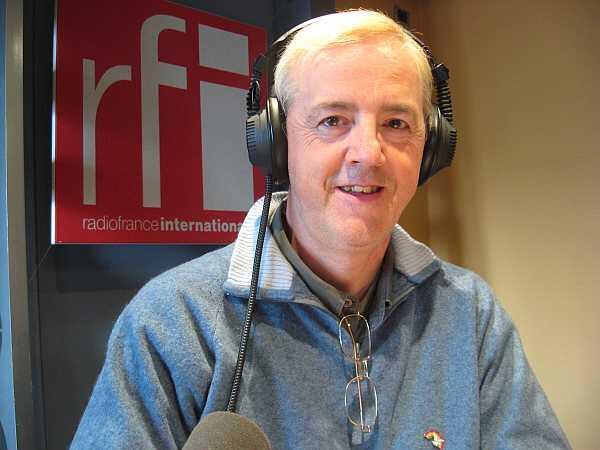Pedro Pozas, en los estudios de RFI.