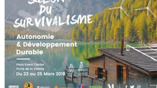 Salon du Survivalisme, à Paris, du 23 au 25 mars 2018.