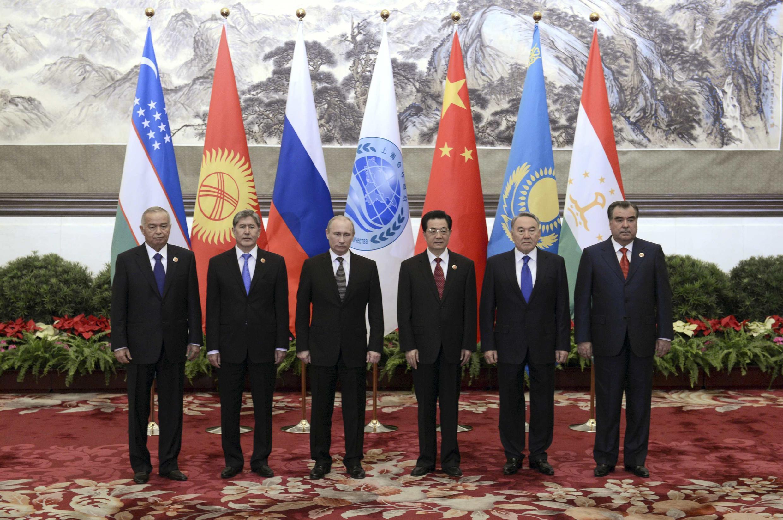 Líderes posam para foto antes da Organização para Cooperação de Xangai, nesta quarta-feira, em Pequim.