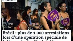 Matéria publicada neste sábado (25) no site do jornal Le Monde.