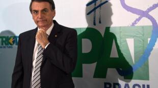 Le candidat de l'extrême droite brésilienne, Jair Bolsonaro.