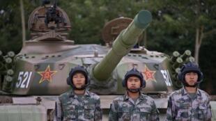 Lính Trung Quốc tham gia cuộc tập trận, ngày 22/07/2014.