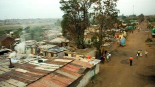 Une vue du township de Kliptown en Afrique du Sud.