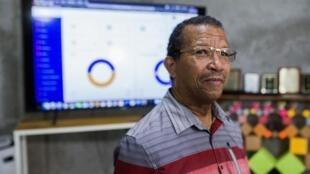 Le directeur du collège Catts Pressoir, Guy Etienne, à Port-au-Prince le 7 août 2020.