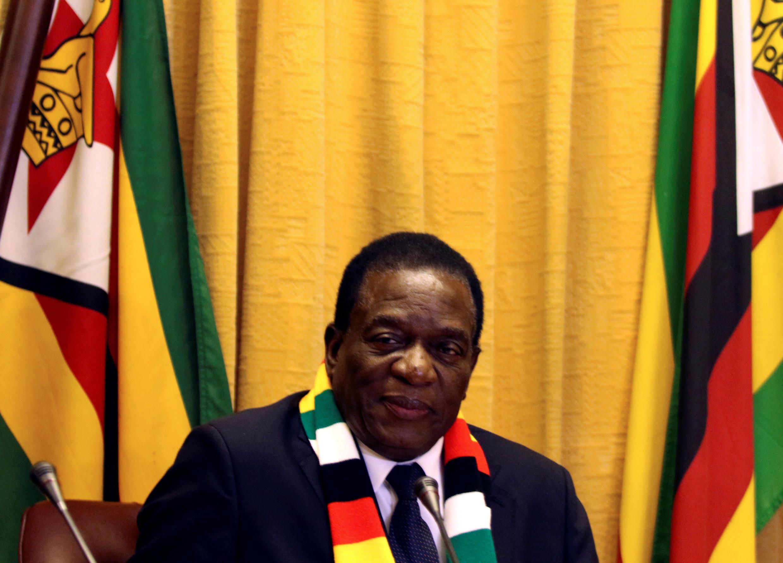 Rais wa Zimbabwe Emmerson Mnangagwa .