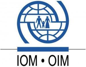 Logótipo da OIM - Organização Internacional das Migrações
