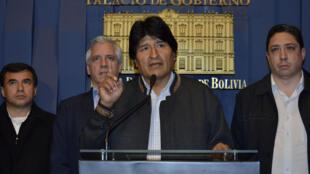 El presidente boliviano Evo Morales en La Paz, el pasado 26 de agosto de 2016.