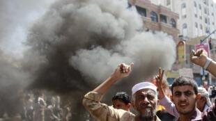Les manifestants de Taëz continuent de réclamer ce 11 mai le départ du président Ali Abdallah Saleh.