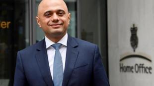 Sajid Javid, ministre de l'Intérieur britannique a remplacé Amber Rudd, qui a démissionné en avril 2018, emportée par l'affaire « Windrush ».