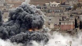 صحنۀ بمباران یکی از شهرهای کردستان عراق