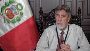 El presidente interino de Perú, Francisco Sagasti, el 26 de enero de 2021 en Lima