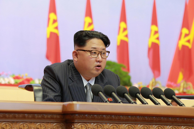 Kiongozi wa Korea Kaskazini Kim Jong-un, ndugu wa kambo wa Kim Jong-nam aliyeuawa nchini Malaysia.