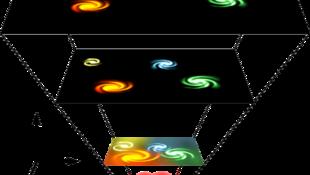 D'après la théorie du Big Bang, l'univers se serait étendu à partir d'un état très dense et brûlant.