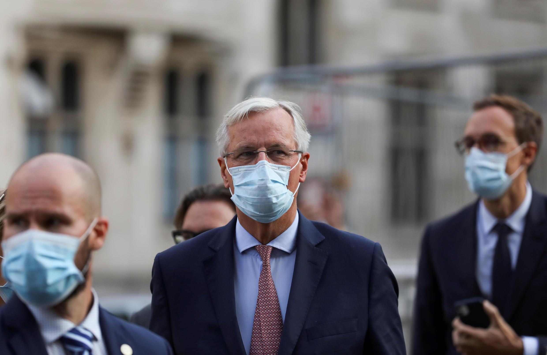 Lãnh đạo nhóm đàm phán Liên Âu Michel Barnier tại Luân Đôn, ngày 10/09/2020.