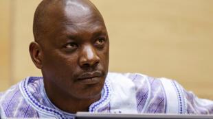El ex líder miliciano congoleño Thomas Lubanga espera el veredicto de los jueces en la Corte Penal Internacional en La Haya, el 1 de diciembre de 2014.