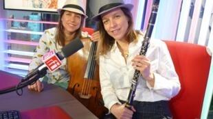Las Hermanas Caronni en los estudios de RFI