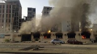 Yaki a Benghazi gabashin Libya.