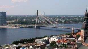 Vue sur le fleuve Daugava.
