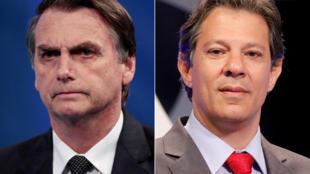 Bolsonaro e Haddad têm pontos de vistas distintos em economia.