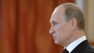 Владимир Путин на церемонии вручения верительных грамот иностранными послами в Кремле 27/06/2014