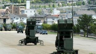 图为日本部署PAC-3地对空防御导弹拦截系统