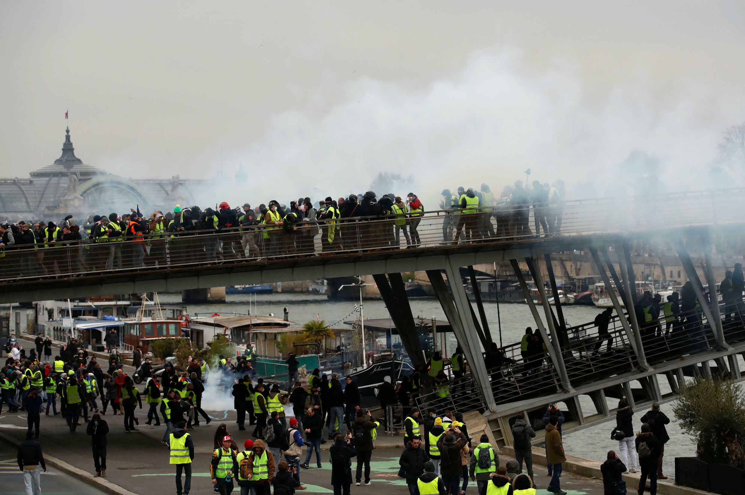 Scenes such as these have become a weekly Saturday event for Parisians since November last year (Photo - January 5, 2019).