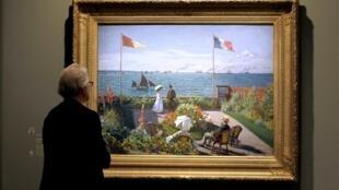 Une des oeuvres de Claude Monet, Grand Palais, 17 septembre 2010.