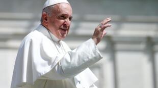 O Papa Francisco no Vaticano, em foto de 24 de abril de 2019.