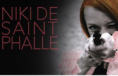 Détail de l'affiche de la rétrospective consacrée à l'artiste Niki de Saint Phalle.