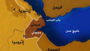 تنگۀ باب المندب، میان یمن و جیبوتی قرار گرفته و از اهمیت سوقالجیشی فراوان برخوردار است.