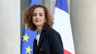 La romancière Leïla Slimani à l'Elysée, le 6 novembre 2017.