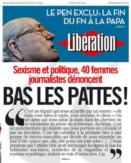 La tribune des femmes journalistes politiques contre le sexisme parue dans «Libération».