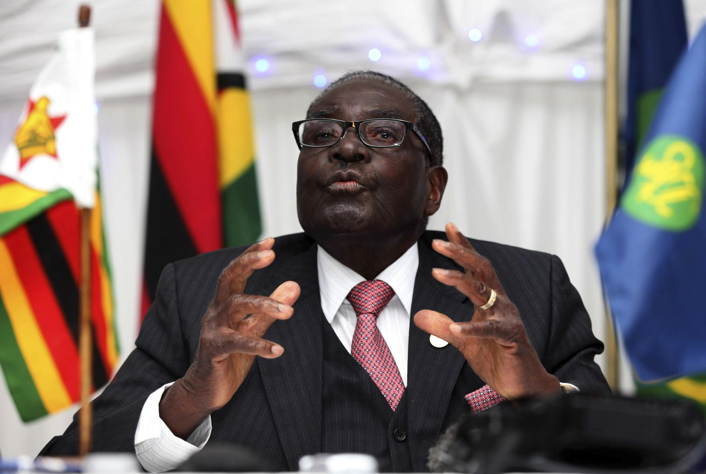 Robert Mugabe, au 34e sommet de la SADC, aux chutes Victoria (Zambie) le 18 août 2014.