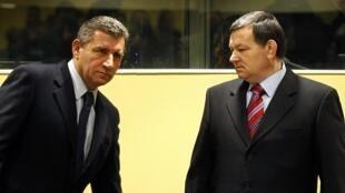 Ante Gotovina et Dragan Markac, le 16 novembre à La Haye.