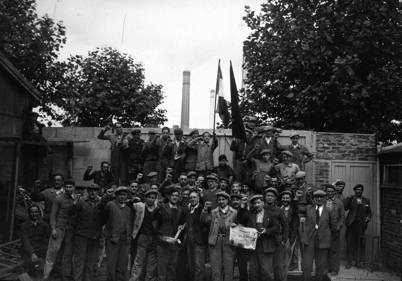 Công nhân ngành luyện kim đình công tháng 5/1936.
