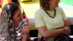 Los cuerpos de las periodistas Ana Marcela Yarce (izquierda) y Rocío González Trápaga (derecha) fueron encontrados en un paraje ubicado en la delegación Iztapalapa, al oriente de México D.F., el 1 de septiembre de 2011.